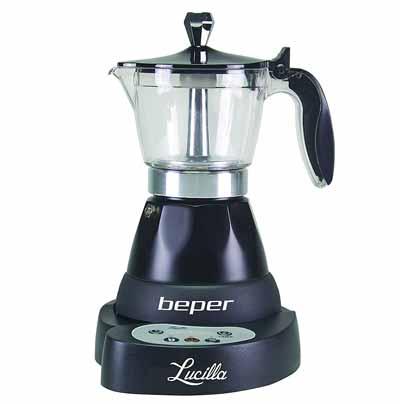 Cafetera moka eléctrica Beper